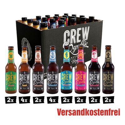 CREW Republic Craft Bier Mix 20x 0,33 Liter für 28,99€ (statt 35€)