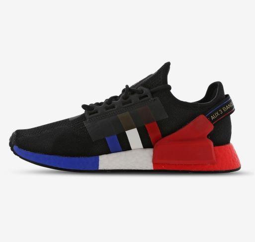 adidas NMD R1 V2 Sneaker mit bunter Boost-Sohle in Schwarz für 69,99€(statt 100€)