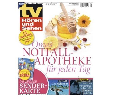 26 Ausgaben TV Hören & Sehen für 65€ + Prämie: 65€ BestChoice Gutschein