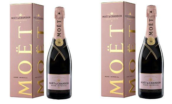 2x Moët & Chandon Champagner Rose Imperial 0,75 Liter mit Geschenkpackung für 75,80€ (statt 88€)