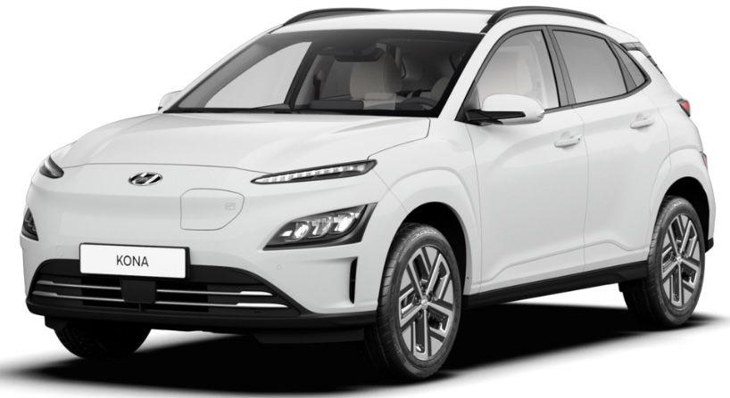 Privat: Hyundai Kona Trend Elektro mit 136 PS in Weiß inkl. Kfz Steuer + TÜV für 199€ mtl.   LF 0.50