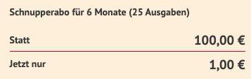 25 Ausgaben Gala (Halbjahresabo) für 1€ (statt 100€)   direkt ganz ohne Prämie