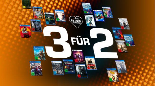 3 Games zum Preis von 2 (auch PS5)   z.B. Outriders + Resident Evil 8 + Spider Man für 121,98€ (statt 160€)