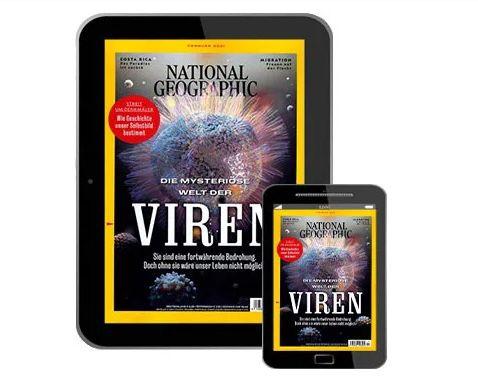 12 Ausgaben National Geographic Abo als E-Paper für 49,96€ + Prämie: bis 50€ Gutschein