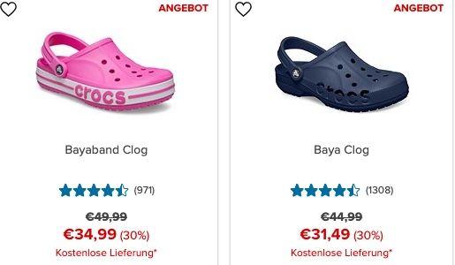 Crocs: Spätsommer Shopping mit 30% Rabatt + keine Versandkosten