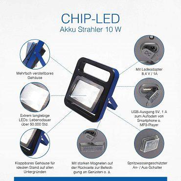 AS Schwabe Acculine Chip LED Strahler 10W für 19,99€ (statt 25€)