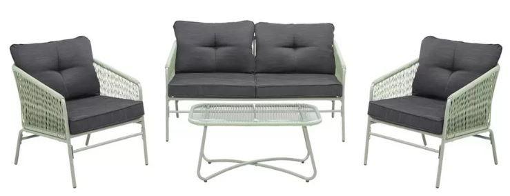 Bessagi Paros Loungegarnitur: 2 Stühle, Sitzbank, Tisch und Kissen für 349,30€ (statt 499€)