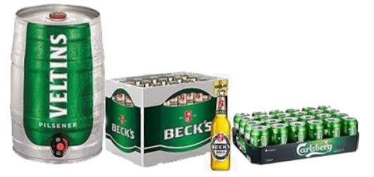 Bier + Biermischgetränke zum Vatertag bei Amazon z.B. Veltins, Becks, Corona Extra, Löwenbräu, Franziskaner
