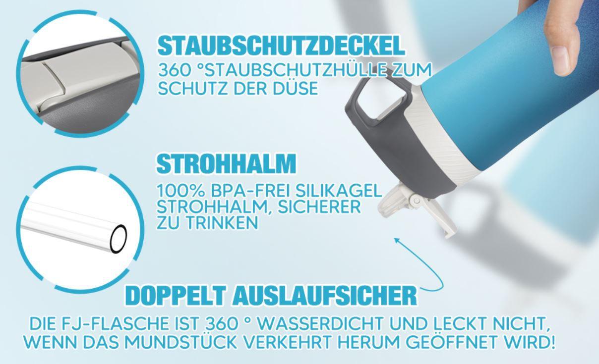 FJbottle Iso Edelstahl Trinkflasche 550ml. für 7,99€ (statt 16€)   prime