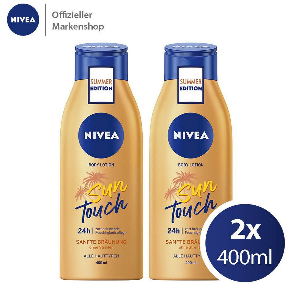 2er Pack Nivea Sun Touch Body Lotion mit Bräunungswirkstoff für 12,99€ (statt 16€)