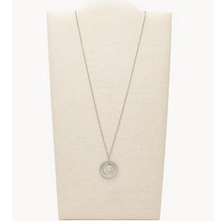 Fossil Damen Silver Tone Halskette aus Edelstahl für 23,60€ (statt 55€)