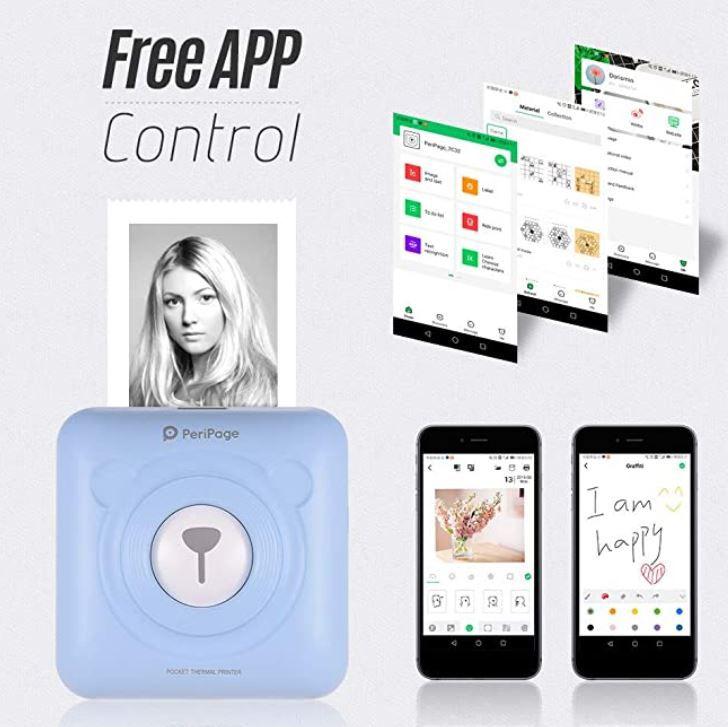 Aibecy PeriPage Mini Fotodrucker mit iOS/Android App für 35,74€ (statt 55€)