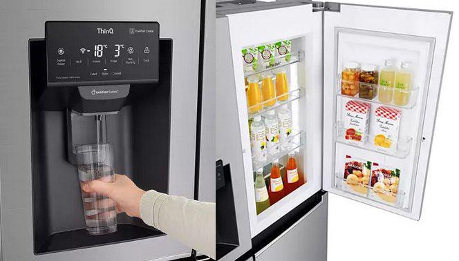 LG GSJ461DIDE Side by Side Kühl Gefrierkombination mit Wasser  & Eisspender für 1.189€ (statt 1.399€)