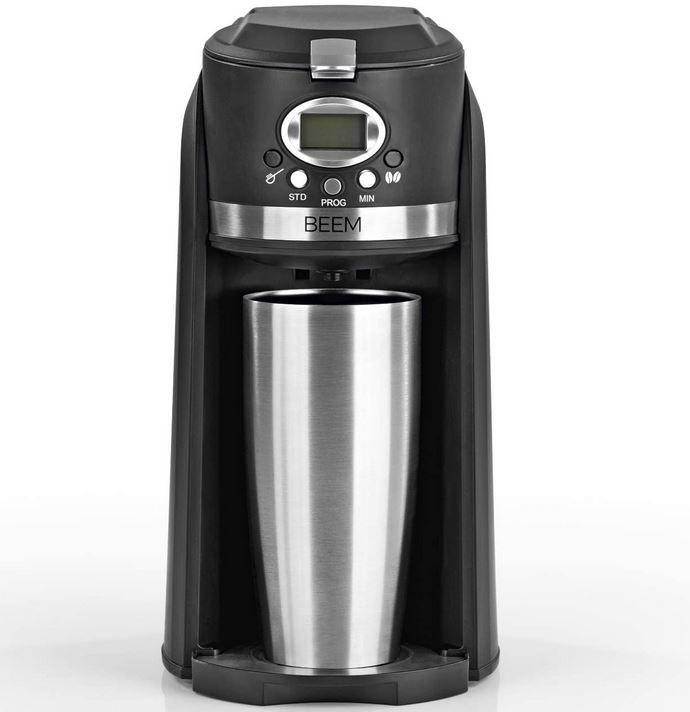BEEM GRIND & BREW 2 GO Single Kaffeemaschine Mahlwerk u. Becher für 53,91€ (statt 65€)