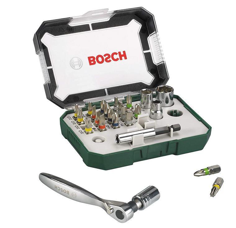 Bosch 26tlg. Schrauberbit- und Ratschen Set für 10,99€ (statt 16€) -prime