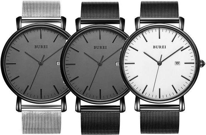 BUREI Herrenuhr mit Datumanzeige in vielen Designs für je 16,79€ (statt 28€)   Prime