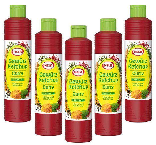 5x Hela Curry Gewürz Ketchup (800 ml) für 8,97€ (statt 12€) – Prime