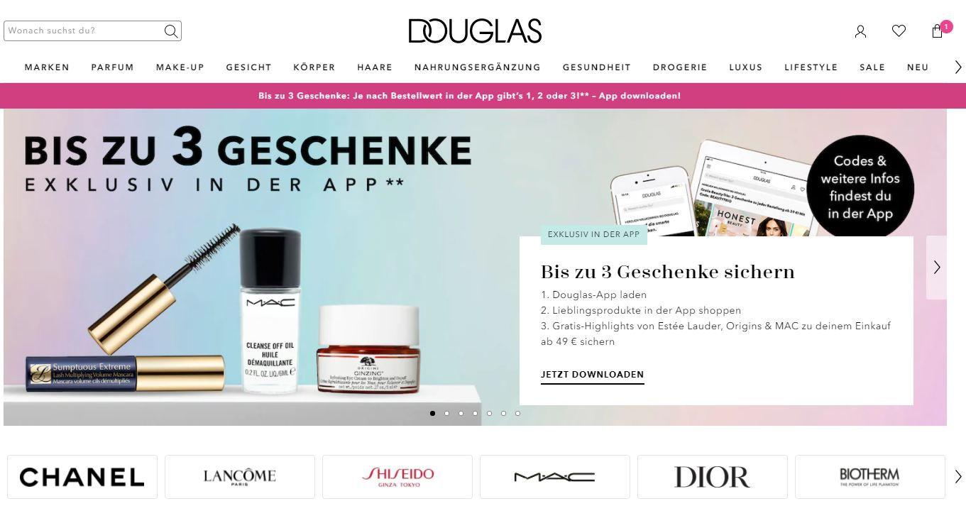 Douglas Gutschein: richtig viel Geld sparen in der Online-Parfümerie!