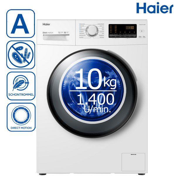 Haier HW100-B1439N Waschmaschine (10kg) für 341,91€ (statt 409€)
