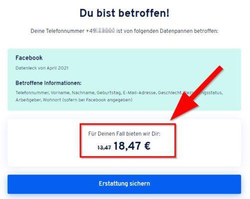 Facebook Datenpanne: ihr könnt sofort 18,47€ Schadenersatz anfordern