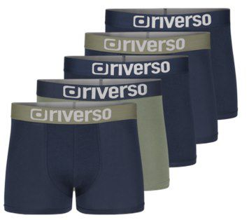 5er Pack: riverso Boxershorts RIVJames Retro Trunks für 24,95€ (statt 30€)   bis 6XL