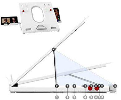 TATE GUARD Laptopständer mit 9 versch. Positionen für 10,99€ (statt 22€)   Prime