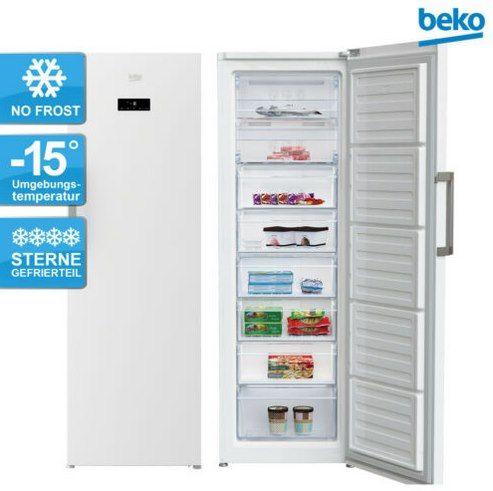 Beko RFNE312E43WN Gefrierschrank (NoFrost, Schnellgefrieren, Eiswürfelspender, A++ bzw. E) für 395,91€ (statt 470€)