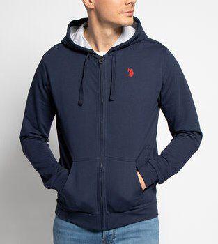 U.S. Polo Assn. Kapuzensweatshirt Blau oder Grau für je 38,83€ (statt 70€)