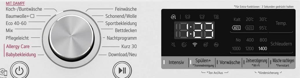 LG F4WV409S1 Serie 4 Waschmaschine mit 9 kg  für 332,10€ (statt 439€)