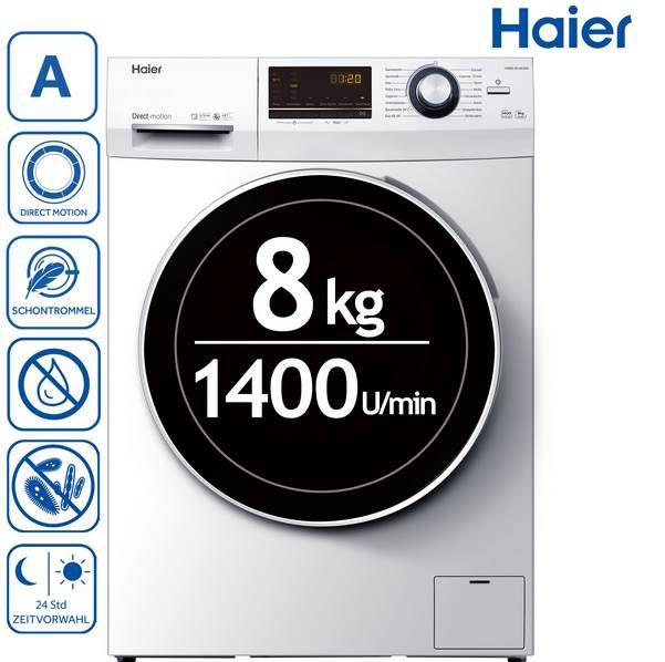 Haier HW80 B14636N Waschmaschine mit 8kg & Direct Motion Motor für 333€ (statt 440€)