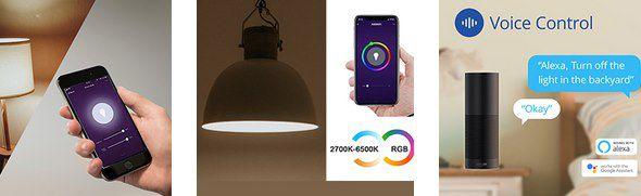 2er Pack: ANTELA 9W WLAN Glühbirne (RGBCW) für 9,99€ (statt 16€)   Prime