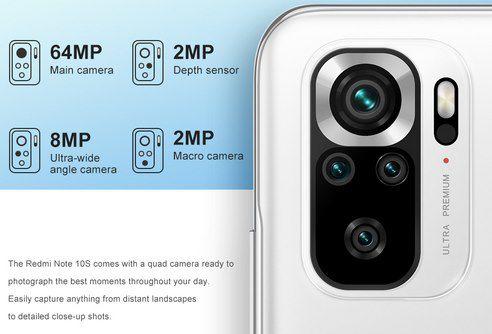 """Xiaomi Redmi Note 10S 6,43"""" AMOLED Smartphone mit 128GB & NFC für 229€ (statt 279€)"""