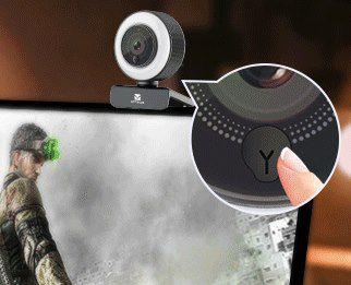 Vitade 960A Pro   1080p Webcam mit Ringlicht für 27,59€ (statt 56€)