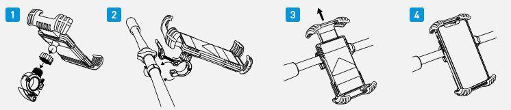 Beemoon H18 Handyhalterung für das Fahrrad, Bike & mehr für 7,46€ (statt 16€)   Prime