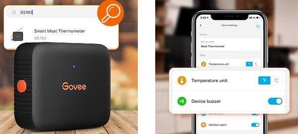 Govee Bluetooth Grillthermometer mit Timer & Alarmfunktion für 11€ (statt 17€)   Prime