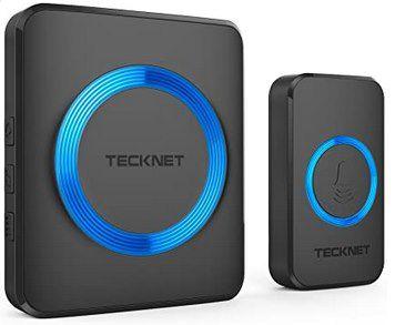 Tecknet Funkklingel mit bis zu 300m Reichweite & 52 Melodien ab 9,99€ (statt 20€)   Prime