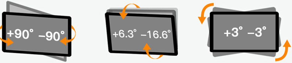 PERLESMITH Monitor & TV Wandhalterung bis 55 Zoll & 40kg für 18,59€ (statt 31€)