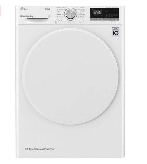 LG V3RT8 8kg Wärmepumpentrockner für 438,95€ (statt 499€)