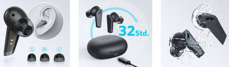 EarFun Air Pro BT 5.0 TWS InEar Kopfhörer mit 6 Mikrofonen & Hybrid ANC für 53,54€ (statt 70€)