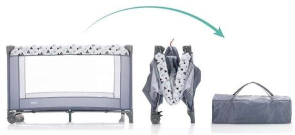 Fillikid Reisebett Standard Triangel (120 x 60 cm) für 37,60€ (statt 55€)