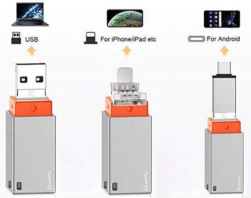 Looffy 3in1 USB 3.0 Stick mit 128GB für 16€ (statt 30€)