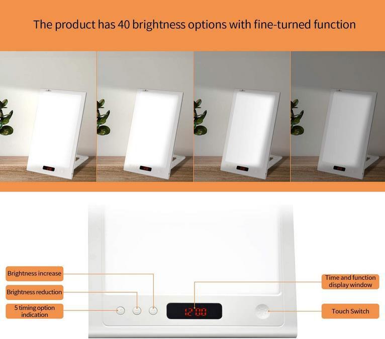 XZN LED Tageslichtlampe DDP01 mit 12000 Lux dimmbar mit 40 Helligkeitsstufen und Timer für 24,49€ (statt 35€)