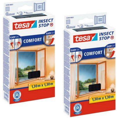 2er Pack: tesa Insect Stop COMFORT Fliegengitter (selbstklebend) mit 130x130cm für 19,95€ (statt 25€)