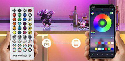 AONOR 2x 10m LED Streifen mit Fernbedienung & App Steuerung für 19,99€ (statt 40€)
