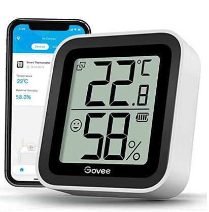Govee Bluetooth Hygro- & Thermometer mit App-Anbindung für 9,59€ (statt 12€) – Prime