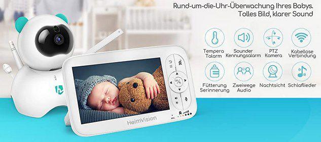 HeimVision HM136 – 720p Babyphone mit Monitor &Cam für 97,92€ (statt 140€)