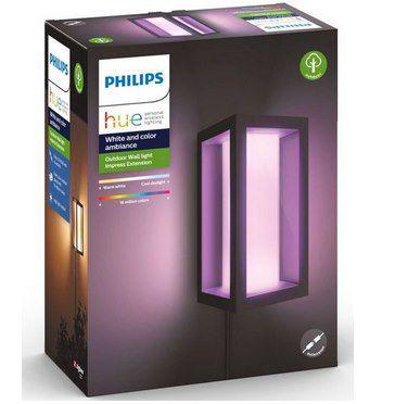Philips Hue White & Color LED Außen-Wandleuchte Impress für 84,90€ (statt 103€)