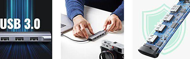 UGREEN USB C 6in1 Hub mit u.a. 3x USB, HDMI & SD Port für 15,99€ (statt 19€)   Prime