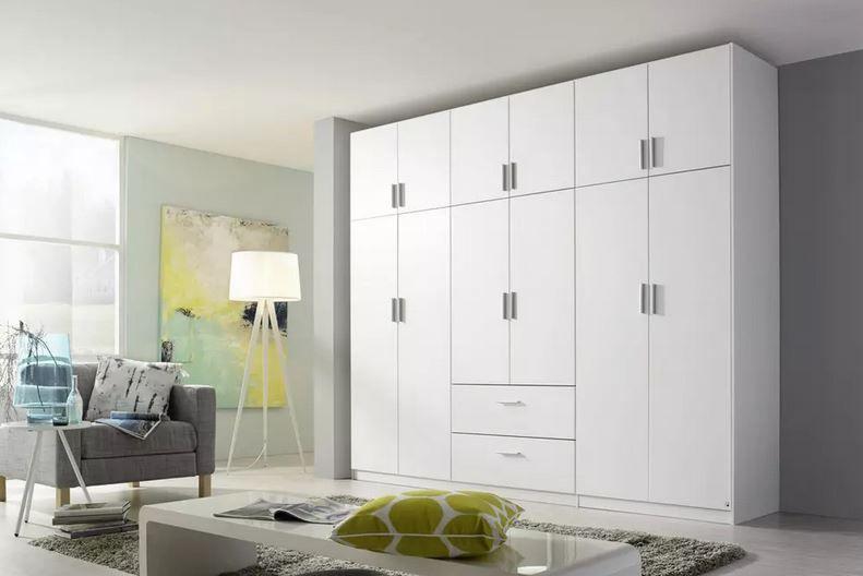 modern living Kombi Kleiderschrank in Weiß ab 479€ (statt 579€)