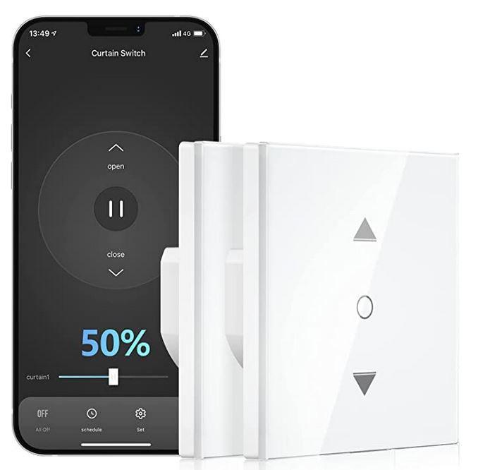 Maxcio WF-CS01 smarter Rolladenschalter mit App Alexa & Google für 20,99€ (statt 30€) oder 2 für 33,59€